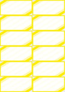 """Bogenpreisschilder """"Eckrand"""", DIN A4, unterteilt in 105 x 49 mm, gelb, 50 Bögen à 12 Preisschilder"""