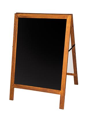 Holzaufsteller mit integrierter Kreidetafel, Beschriftungsfläche ca. 600 x 800mm, braun