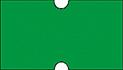 Haftetiketten, permanent, 21 x 12 mm, Leuchtfarbe grün, 50 Rollen à 1.000 Etiketten