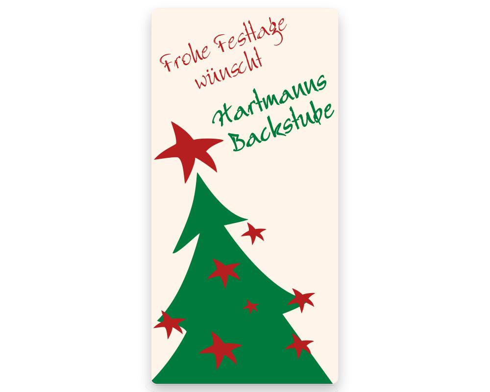 Weihnachtsetiketten, 25 x 50 mm, Version 21, 1 Rolle à 1.000 Etiketten