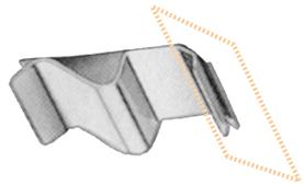Edelstahl-Glasbodenhalter, 6 - 11 mm, 10 Stück pro Karton
