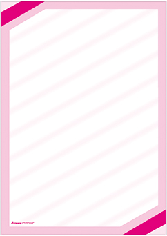 """Plakat """"Eckrand"""", DIN A2, pink, 50 Plakate pro Pack"""