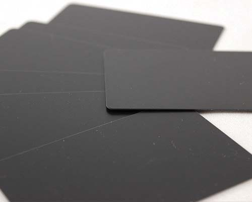 Plastikkarten, 86 x 54 x 0,50 mm, schwarz matt, 100 Karten pro Pack
