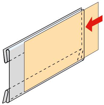 Acryl-Preisschienenhalter Version 8, 105 x 49 mm, für 55 mm breite Preisschienen, 10 Stück pro Pack