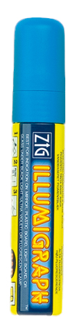 Kreideschreiber, 2 - 5 mm breit, blau