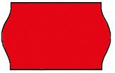 Haftetiketten, permanent, 26 x 16 mm, Leuchtfarbe rot, 36 Rollen à 1.000 Etiketten