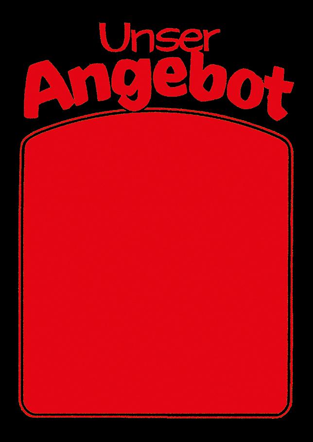 "Plakat ""Unser Angebot"", DIN A1, rot, 50 Plakate pro Pack"