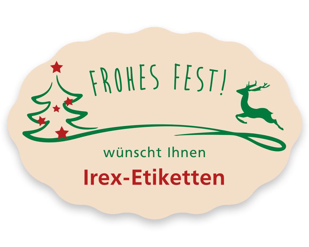 Weihnachtsetiketten, 49 x 32 mm, Version 74, 1 Rolle à 1.000 Etiketten