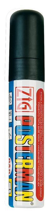 Plakatschreiber, 10 - 15 mm breit, schwarz