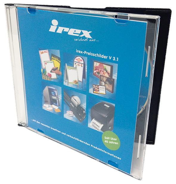 irex-Programm CD für Computerpreisschilder, alle Formate eingerichtet, für Windows