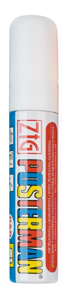 Plakatschreiber, 10 - 15 mm breit, weiß