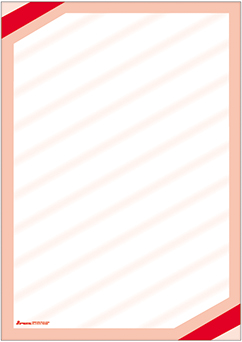 "Plakat ""Eckrand"", DIN A2, rot, 50 Plakate pro Pack"