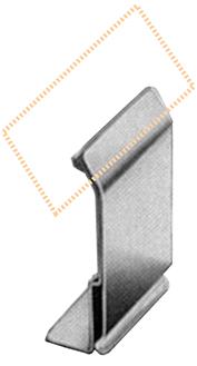Edelstahlhalter für Kurzrandblech, 2 mm, 10 Stück pro Karton