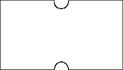 Haftetiketten, ablösbar, 21 x 12 mm, weiß, 50 Rollen à 1.000 Etiketten