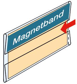 Acryl-Magnetschilderhalter, 105 x 49 mm, 10 Stück pro Pack