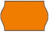 Haftetiketten, permanent, 26 x 12 mm, Leuchtfarbe orange, 36 Rollen à 1.000 Etiketten