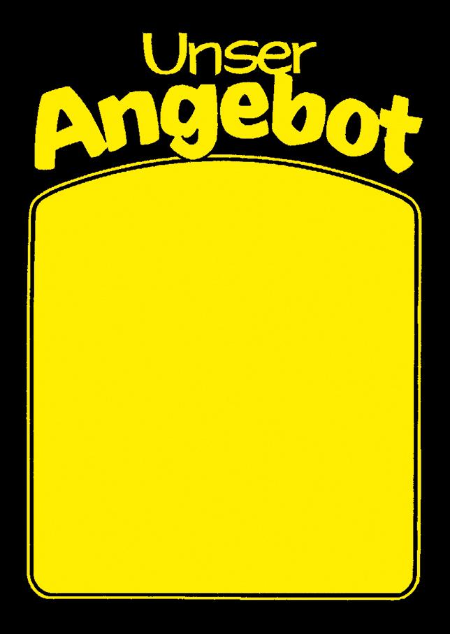 "Plakat ""Unser Angebot"", DIN A2, gelb, 50 Plakate pro Pack"