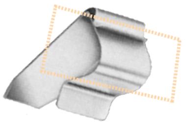 Edelstahl-Regal-, Borten und Glasbodenhalter, 20 - 25 mm Ø, 10 Stück pro Karton