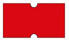 Haftetiketten, ablösbar, 21 x 12 mm, Leuchtfarbe rot, 50 Rollen à 1.000 Etiketten