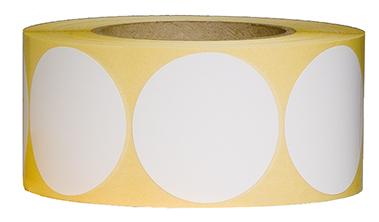 Etiketten, 60 mm, weiß, 3 Rollen à 1.000 Etiketten