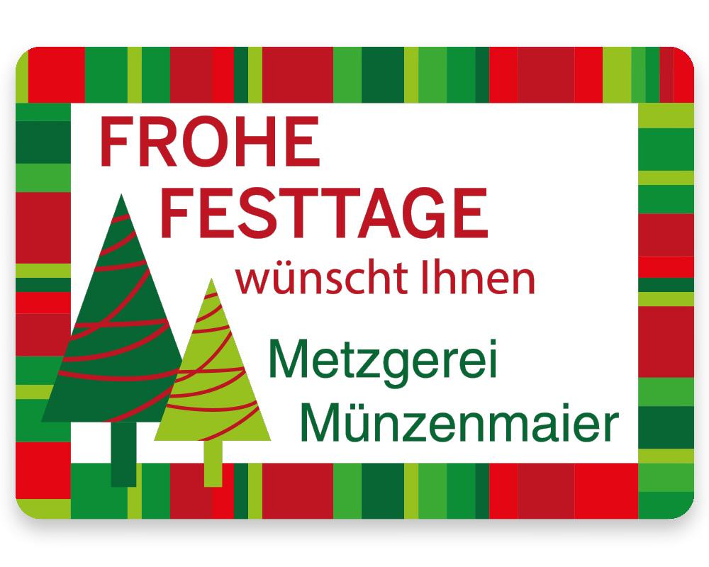 Weihnachtsetiketten, 50 x 35 mm, Version 59, 1 Rolle à 1.000 Etiketten