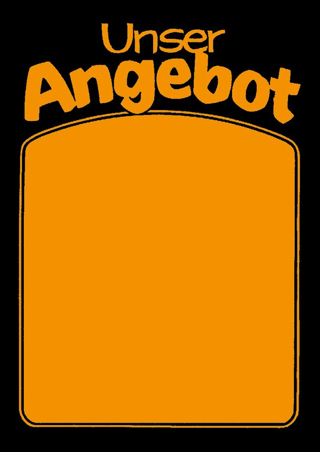 "Plakat ""Unser Angebot"", DIN A2, orange, 50 Plakate pro Pack"
