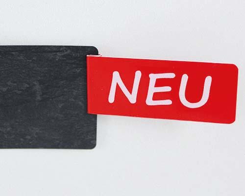"""Aktionsreiter, 72 x 26 mm, """"NEU-quer"""", 10 Stück pro Pack"""