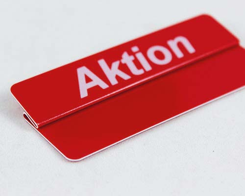 "Aktionsreiter, 86 x 18 mm, ""Aktion"", 10 Stück pro Pack"