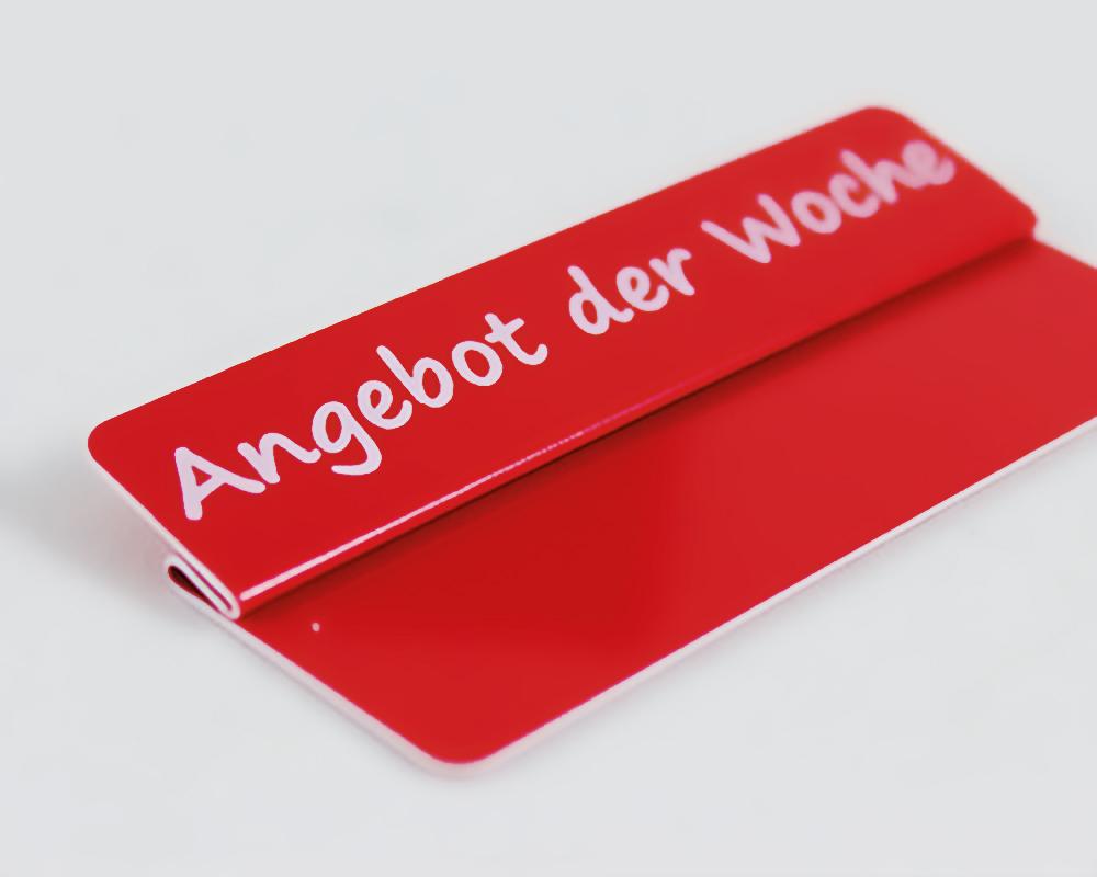 """Aktionsreiter, 86 x 18 mm, """"Angebot der Woche"""", 10 Stück pro Pack"""