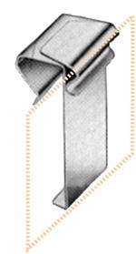 Edelstahl-Preisschilderhalter für Glasscheiben, 20 - 25 mm Ø, 10 Stück pro Karton