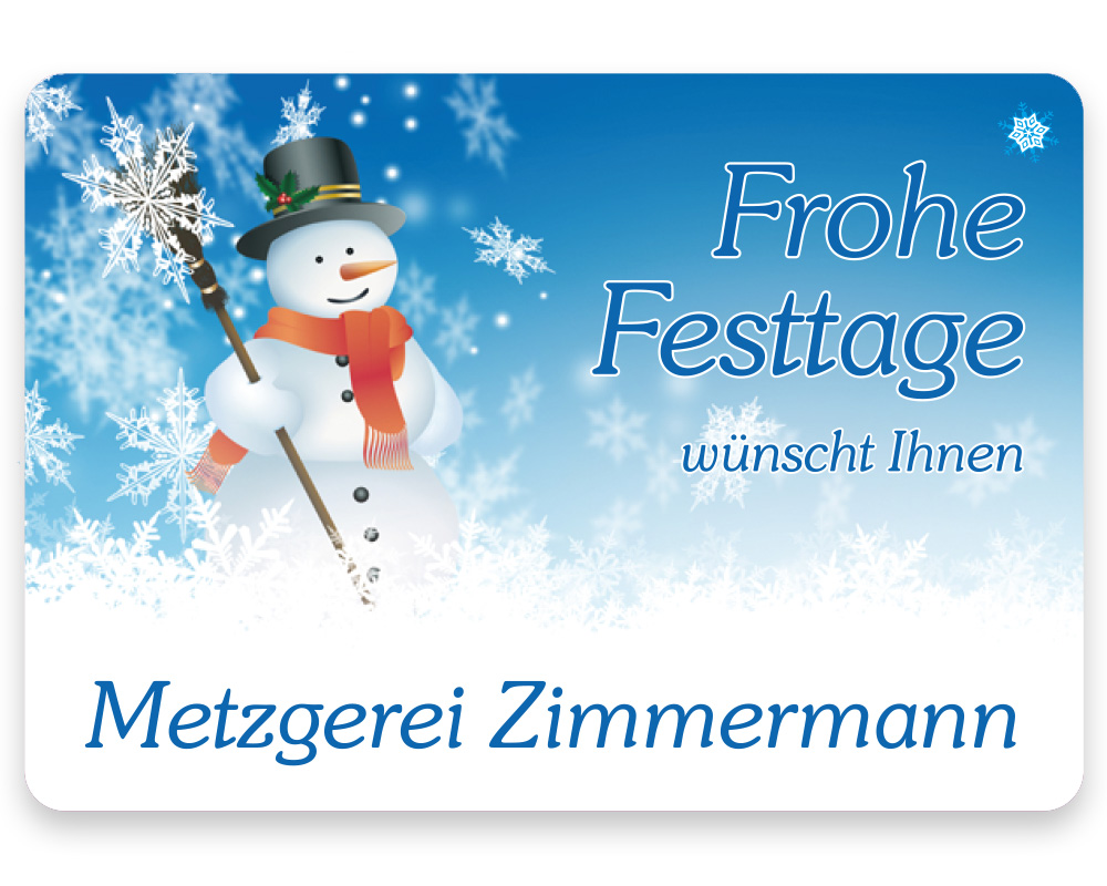 Weihnachtsetiketten, 50 x 35 mm, Version 41, 1 Rolle à 1.000 Etiketten