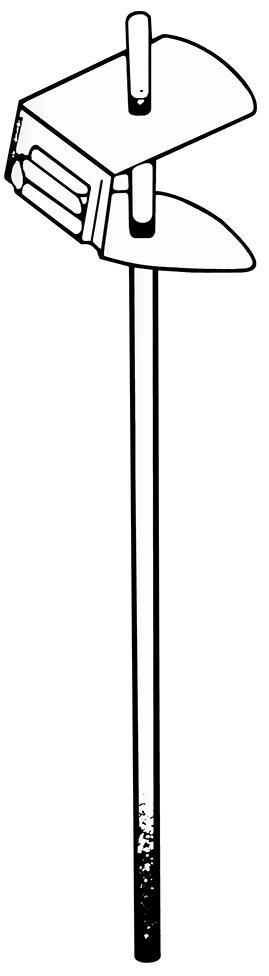 Edelstahl-Preisspieß, 200 mm Stablänge, höhenverstellbar, 10 Stück pro Karton