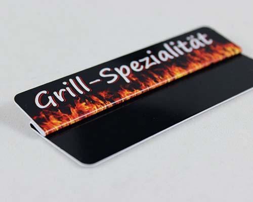"Aktionsreiter, 86 x 18 mm, ""Grill-Spezialität"", 10 Stück pro Pack"