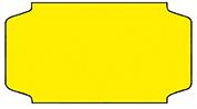 Haftetiketten, permanent, 31 x 19 mm, gelb, 32 Rollen à 1.000 Etiketten