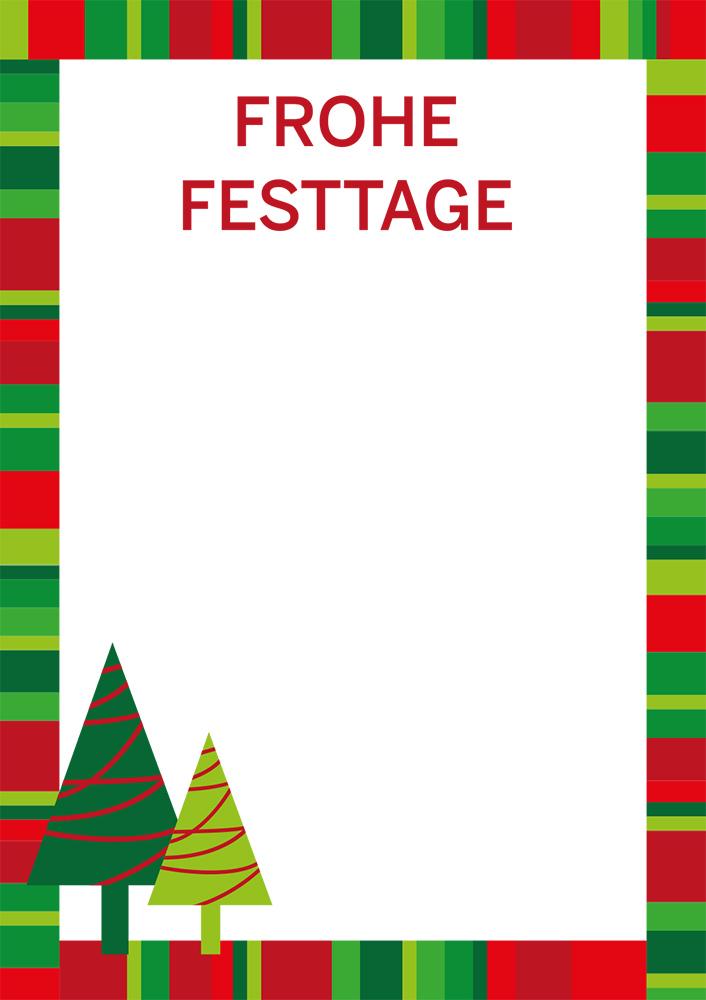 "Plakat ""Frohe Festtage"", DIN A1, gestreift, 50 Plakate pro Pack"