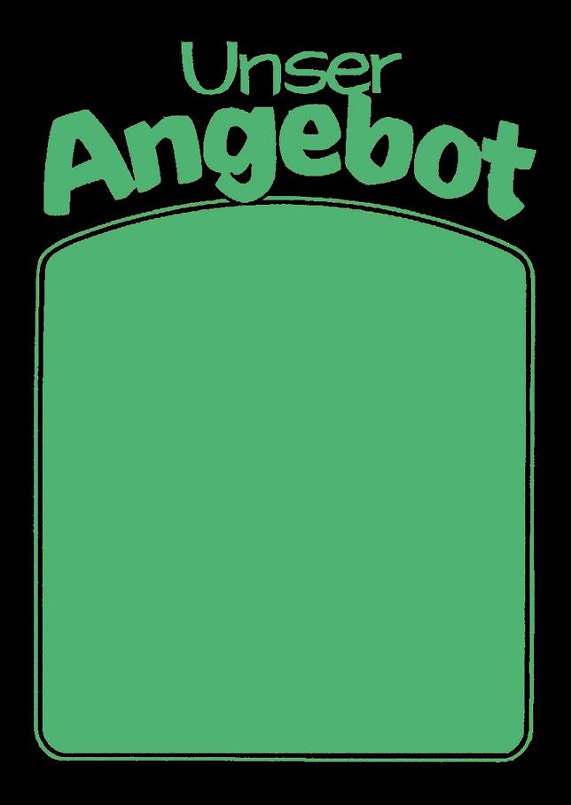 """Plakat """"Unser Angebot"""", DIN A1, grün, 50 Plakate pro Pack"""