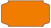 Haftetiketten, permanent, 31 x 19 mm, orange, 32 Rollen à 1.000 Etiketten
