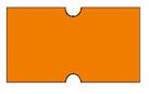 Haftetiketten, permanent, 21 x 12 mm, Leuchtfarbe orange, 50 Rollen à 1.000 Etiketten