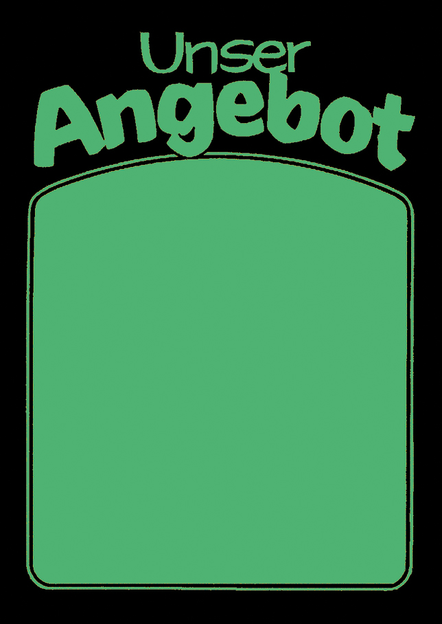 """Plakat """"Unser Angebot"""", DIN A2, grün, 50 Plakate pro Pack"""