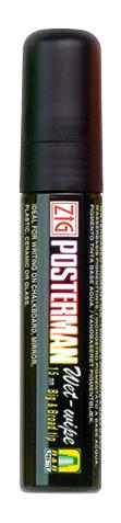 Kreideschreiber (Posterman wet wipe), 10 - 15 mm breit, schwarz