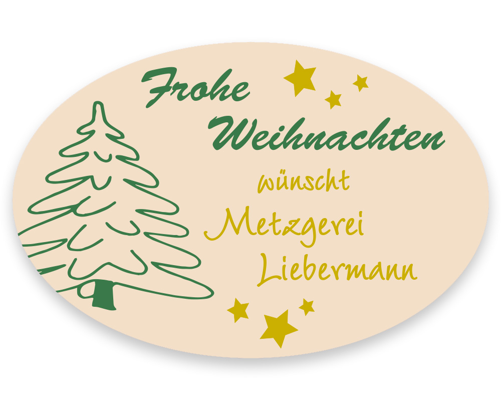 Weihnachtsetiketten, 45 x 30 mm, Version 36, 1 Rolle à 1.000 Etiketten