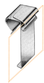 Edelstahl-Preisschilderhalter für Glasscheiben, 12 - 15 mm Ø, 10 Stück pro Karton