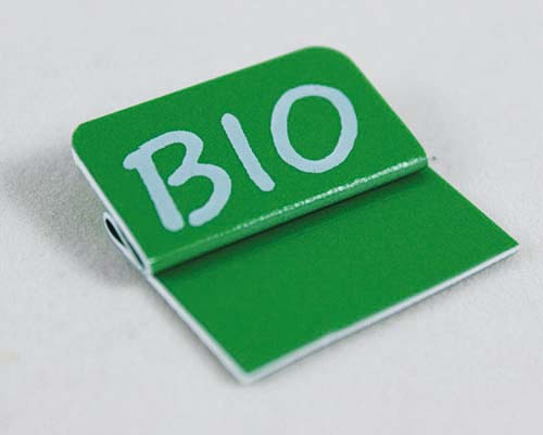 "Aktionsreiter, 26 x 13 mm, ""Bio"", 10 Stück pro Pack"