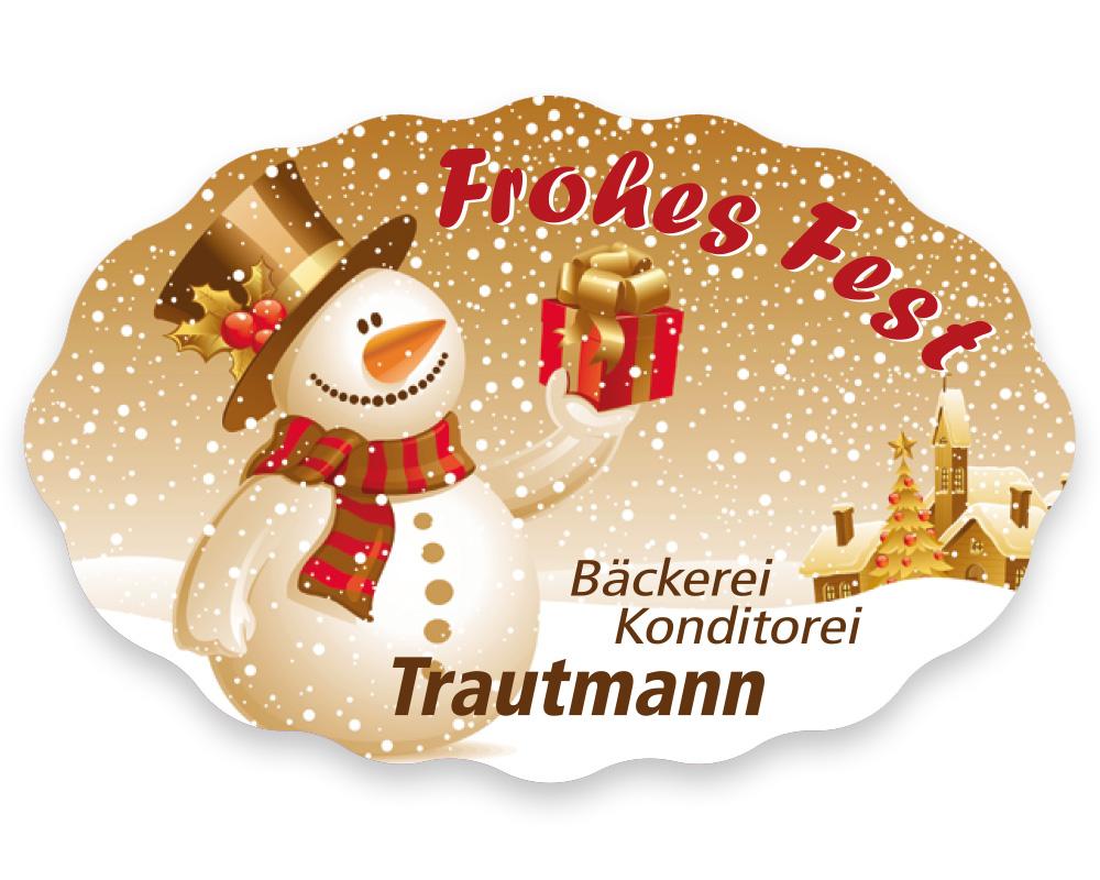 Weihnachtsetiketten, 49 x 32 mm, Version 40, 1 Rolle à 1.000 Etiketten