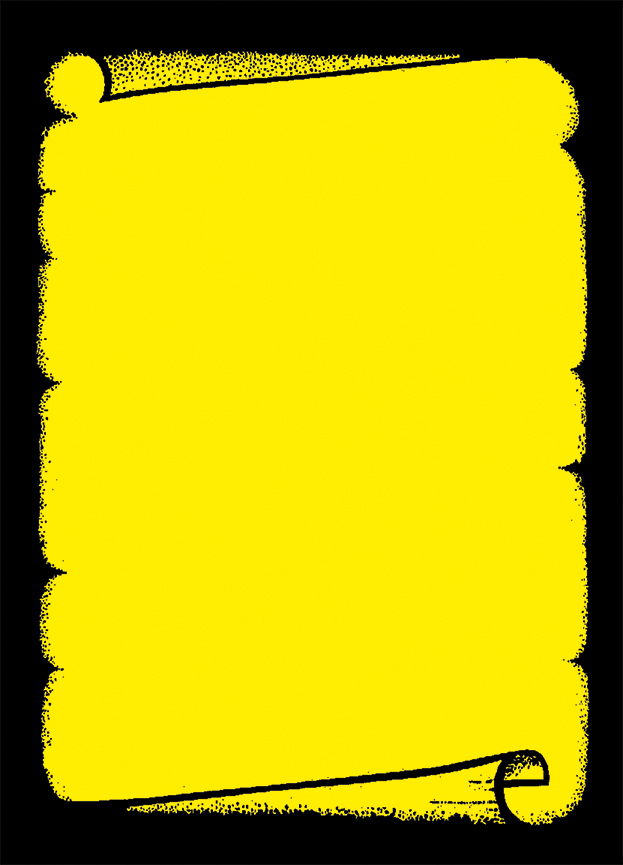 """Plakat """"Dokumentenrolle"""", DIN A2, gelb, 50 Plakate pro Pack"""