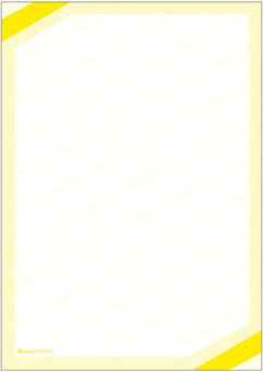 "Plakat ""Eckrand"", DIN A2, gelb, 50 Plakate pro Pack"