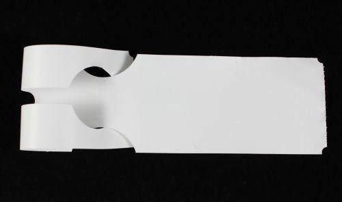 Schlaufenanhänger PE, 50 x 280 mm, weiß, 2 Rollen à 500 Etiketten