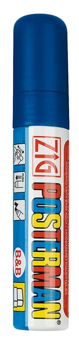 Plakatschreiber, 10 - 15 mm breit, blau