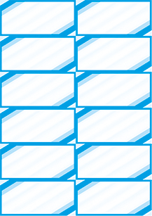 """Bogenpreisschilder """"Eckrand"""", DIN A4, unterteilt in 105 x 49 mm, blau, 50 Bögen à 12 Preisschilder"""
