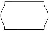 Haftetiketten, permanent, 26 x 12 mm, weiß, 36 Rollen à 1.000 Etiketten